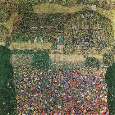 Gustav Klimt Country House By The Attersee Giclee Canvas