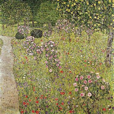 Gustav Klimt Orchard With Roses Giclee