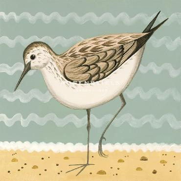Catriona Hall Gracious Greenshank Giclee Canvas