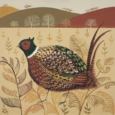 Catriona Hall Foraging Pheasant Giclee Canvas