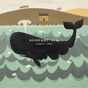 Catriona Hall A Wonderful Whale Giclee Canvas