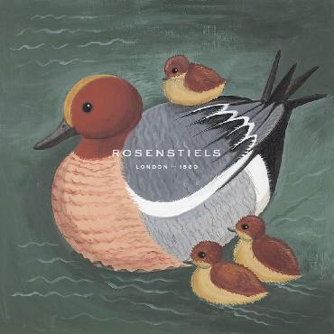 Catriona Hall Dawdling Ducks Giclee Canvas
