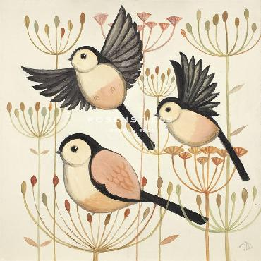 Catriona Hall Feather Flyers Giclee Canvas