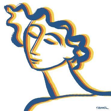 Marsha Hammel Linear Daydreams  -  Bold Giclee
