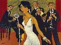 Marsha Hammel Ensemble With Green Curtain (lady In White)