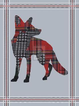 Fergus Dowling Textured Fox Giclee Canvas