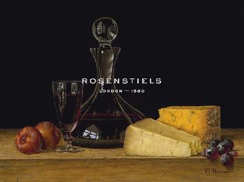 Roy Hodrien Decanter Of Port With Cheeses And Plums Giclee Canvas