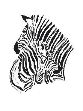 Niina Aalto Zebra Embrace Giclee Canvas