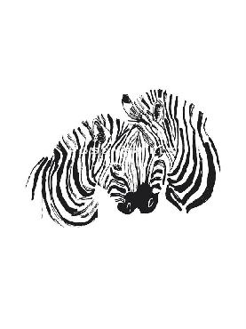 Niina Aalto Zebra Love Giclee Canvas