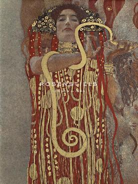 Gustav Klimt Hygieia (detail From Medicine) Giclee Canvas