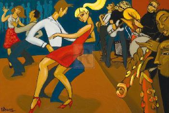 Marsha Hammel Clubbing Giclee Canvas