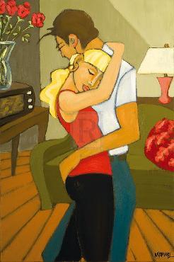 Marsha Hammel Dancing In The Living Room Giclee Canvas