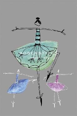 Callie Crosby And Rebecca Daw Pretty Ballerinas I Giclee Canvas