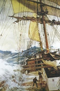 Montague Dawson Rising Wind Giclee Canvas