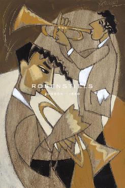 Marsha Hammel Hot Brass Duo! Giclee Canvas