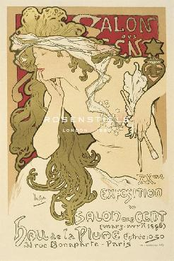 Alphonse Mucha Salon Des Cent 20th Exhibition, 1896 Giclee