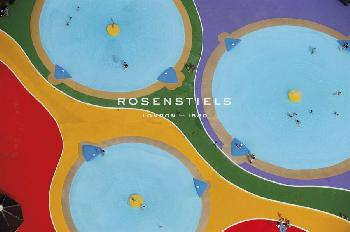 Jason Hawkes Pool Puzzle Giclee Canvas
