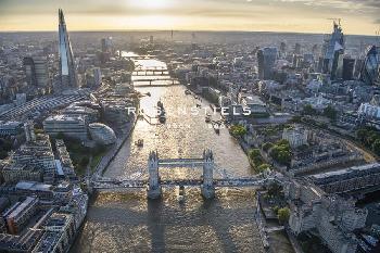 Jason Hawkes London VIsta  -  City Bridges Giclee Canvas