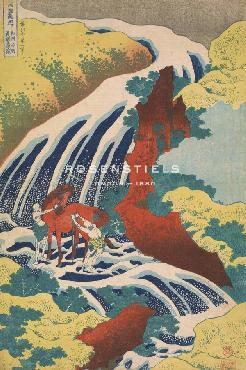 Katsushika Hokusai Yoshitsune Falls Giclee Canvas