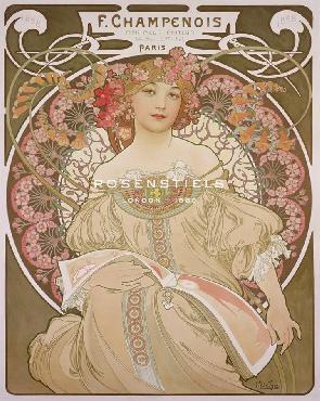 Alphonse Mucha Reverie, 1897