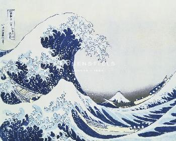 Katsushika Hokusai Great Wave Of Kanagawa  -  Flow