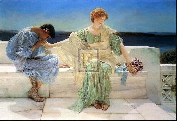 Sir Lawrence Alma-Tadema YOUNG LOVERS
