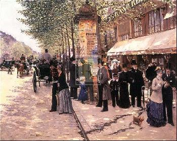 Jean Beraud ON THE BOULEVARD