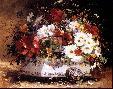 Eugene Henri Cauchois STILL LIFE OF SPRING FLOWERS