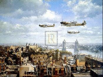 John Young Spitfires Over London