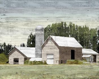 Mark Chandon Western Plain  -  Silo Giclee Canvas