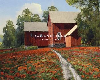 Mark Chandon A Poppy Path Giclee Canvas