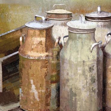 Mark Chandon Long Barn  -  Dairy Giclee Canvas