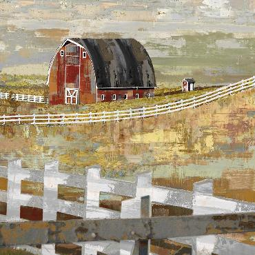 Mark Chandon Long Barn  -  Paddock Giclee Canvas