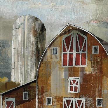 Mark Chandon Long Barn  -  Silo Giclee Canvas