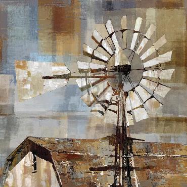 Mark Chandon Long Barn  -  Windmill Giclee Canvas