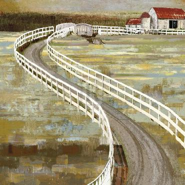 Mark Chandon Long Barn  -  Meander Giclee Canvas