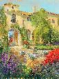 Longo Spanish Courtyard II Giclee Canvas