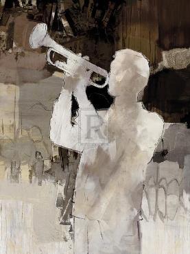Mark Chandon Jazz Trumpet Giclee Canvas