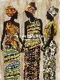 Chandon African Beauties Giclee Canvas