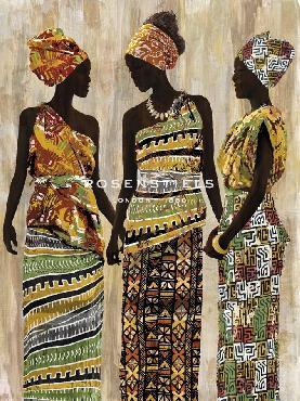 Mark Chandon African Beauties Giclee Canvas