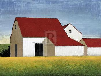 Mark Chandon Building Block  -  Barn Giclee Canvas