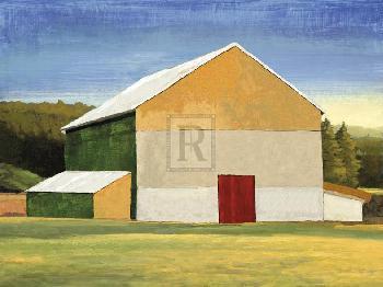 Mark Chandon Building Block  -  Farm Giclee Canvas