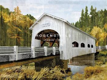 Mark Chandon Backwoods Bridge Giclee Canvas