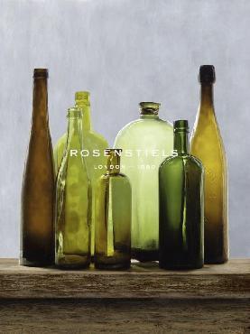 Mark Chandon Bottle Green Giclee Canvas