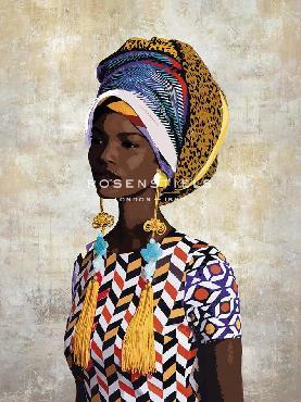 Mark Chandon Chic Portrait  -  Fari Giclee Canvas