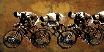 Mark Chandon Racing Past Giclee Canvas