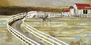 Mark Chandon Long Barn  -  Meander Far Giclee Canvas