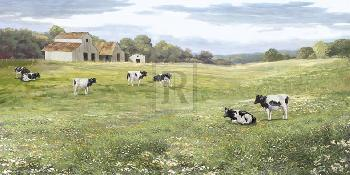 Mark Chandon A Day In The Daisy Field Giclee Canvas