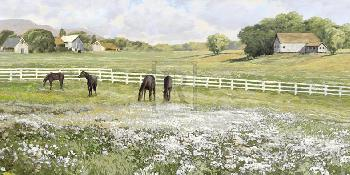 Mark Chandon A Day In The Paddock Giclee Canvas