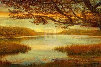 Mark Chandon Landscape Lake Giclee on Canvas